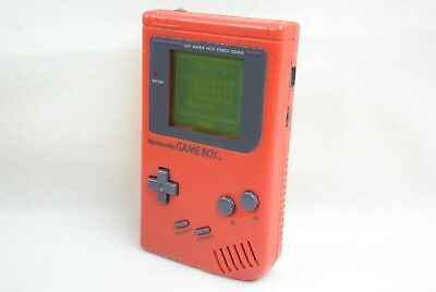 Nintendo GAME BOY ORIGINAL Console System RED DMG-01 Classic 41286 Tested gb