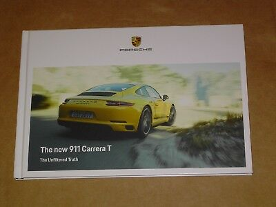 2018 Porsche 911 Carrera T Hardcover Brochure 48 Pages Mint!