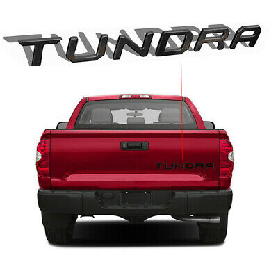 Black Tailgate Letter Insert Decal Stickers for 2014-2017 Toyota Tundra Molding