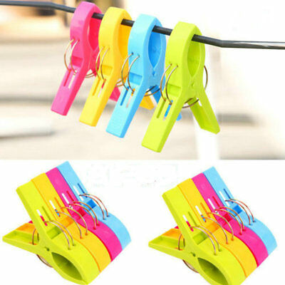 1/20X Large Bright Colour Plastic Beach Towel Pegs Clips to Sunbed Tools Home AU