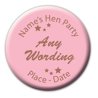 Rose Gold and Pink Star Hen Do Party Badges, Magnet, Mirror Gift 5for4 (BB399)