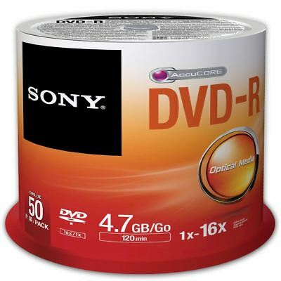 Sony DVD-R 120 Minutes 4.7GB 16X Speed Recordable Blank Discs - 50 Pack Spindle