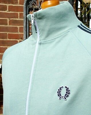 Fred Perry Sage Twin Taped Track Jacket - L/XL - Ska Mod Scooter Casuals Skins