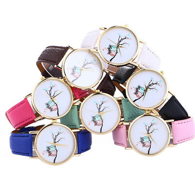 New Fashion Geneva Women Leather Band PU Strap Quartz Analog Wrist Watch WRG