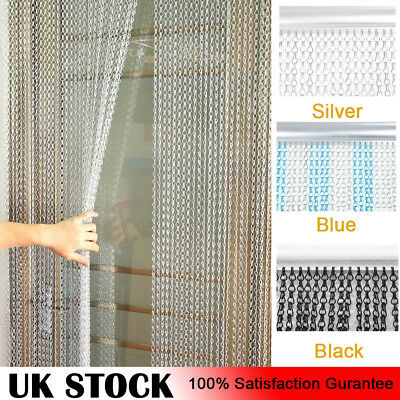Aluminium Metal Chain Strip Door Curtain Blinds Fly Pest Insect Screen Control