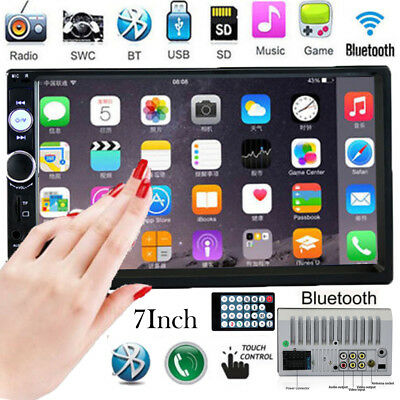7'' HD Double 2DIN Touch Car Stereo Radio MP5/MP3 Player Bluetooth USB/TF/FM/SD
