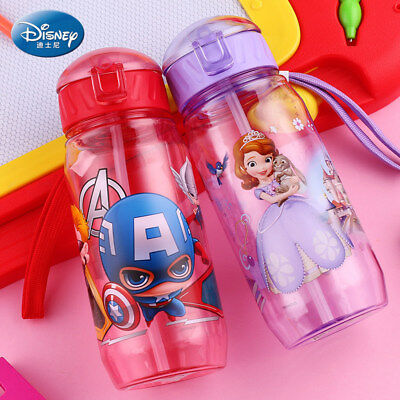 NEW Baby Kids Children Disney School Drinking Water Straw Bottle Straw Sippy Cup