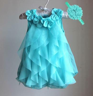 Summer Chiffon Girls Dress Cute Layered Style For Special Occasion Wear Clothing