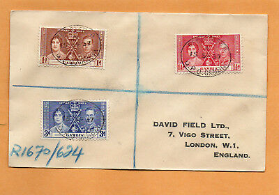 Gambia 1938 FDC Mailed Registered