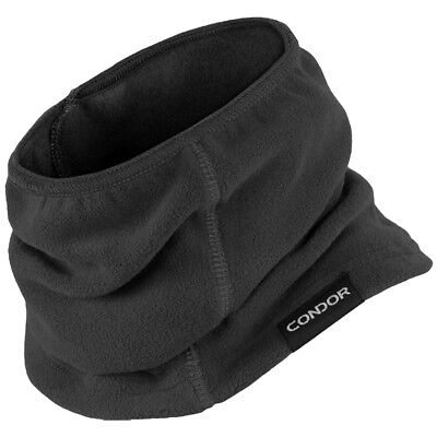 Condor Thermo Neck Gaiter Stretchable Security Scarf Police Fleece Mask Black
