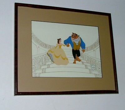 """Framed & Matted 19X16 Limited Edition Disney Sericel """"beauty & The Beast"""""""