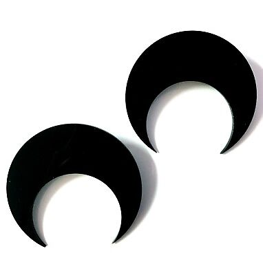 Moon Child Black Acrylic Stud Earrings Occult Gothic Statment Jewellery