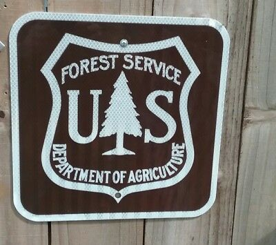 *** US Forest Service Department Agriculture metal DOT Reflective sign 12×12