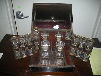 Victorian Tantalus Decanter Set in Box