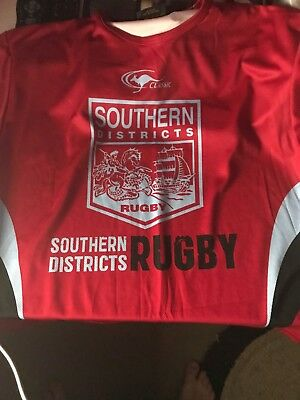 rugby union southern districts colts training shirt size large.