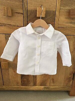 Next Baby Boy White Linen Shirt 3-6months