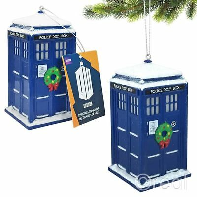 """New Doctor Who 4.5"""" Light Up TARDIS Xmas Ornament Bauble Christmas Tree Official"""