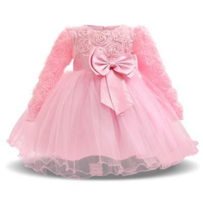 221a8e961 Baby Girl Dress For Formal Special Occasion Wear Floral Bow Design Elegant  Wears