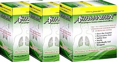 Asthmanefrin Asthma Medication Refill, 30 Count (Pack of 3) Expiration Aug 2020