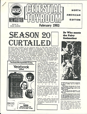Doctor Who Celestial Toyroom vintage fanclub newsletter - Jan-Feb 83 & Jan 84