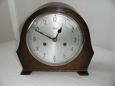 Vintage Cased Smiths Enfield Mantle Clock in good working order and chimes