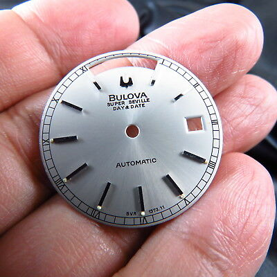 New Old Stock  Swiss Made  Bulova Super Seville Daydate Automatic Men Watch Dial