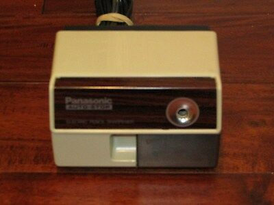 Panasonic Auto Stop Electric Pencil Sharpener Wood Grain Model KP-110 JAPAN