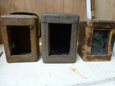 3 x strike / repeating carriage clock cases spares / repair