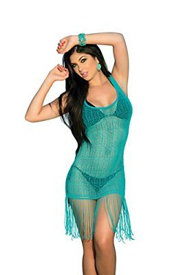 (TG. XL)  AM PM In Espiral 7702 Cover Up / vestito Beach colore turchese taglia