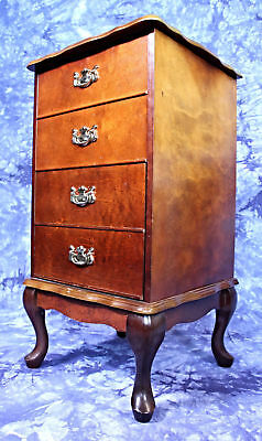 Queen Anne Style Filing Cabinet Nightstand Chest of Drawers Side Table Commode