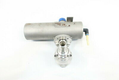 Sudmo Pneumatic Stainless Stainless Sanitary Butterfly Valve 1/2in
