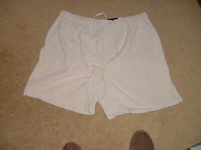 """Basic Editions Ladies Shorts  Sz Xl  Relaxed Fit   New Tan 7"""" Inseam Elastic"""