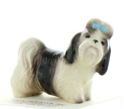 "Black & White Shih Tzu ""Mandy"" Ceramic Dog Figurine Made in USA by Hagen-Renaker"