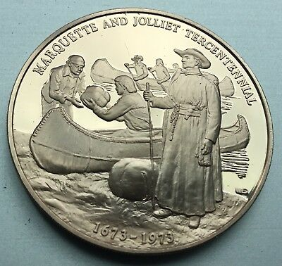 Discovery Of The Mississippi River Marquette And Joliet Tricentennial Coin Medal