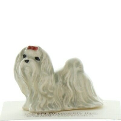 White Maltese Collectible Miniature Dog Figurine Made in USA by Hagen-Renaker
