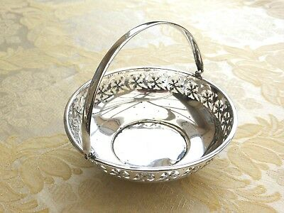 Vintage Silver Plated Floral Patterned & Pierced Footed Bowl  1340690/683