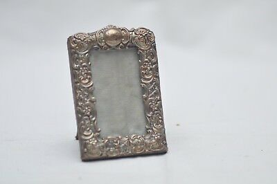 Rare Vintage Sterling Silver Picture Frame Small +-80 mm Hallmarked Bham 1900