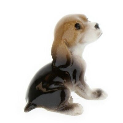 Tri-Color Beagle Scent Hound Puppy Miniature Dog Figurine Made by Hagen-Renaker