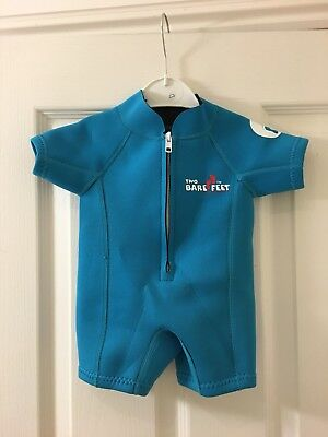 Baby Boys Swimsuit Two Bare Feet Classic Wetsuit Shorts Aqua XS 6-12 M months