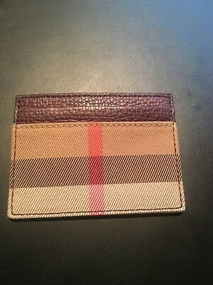 NWT Burberry Sandon Horseferry Men's Card Case ID holder Wallet