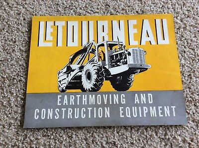 1946 LeToubneau  earthmoving and construction equipment information catalogue