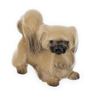 Cream Pekingese Miniature Dog Figurine USA Made by Hagen-Renaker