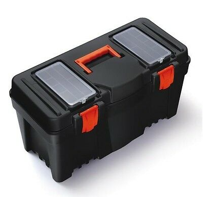 """Mustang Large Compact Plastic Tool Box + Inner Tray 25"""" N25R Toolbox"""