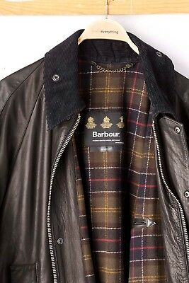 Barbour International Brown Leather Jacket -XL- MSRP$899