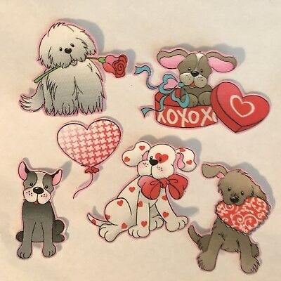 Loving Pups - Cute little Dogs - Iron On fabric appliques