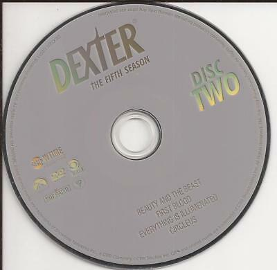 Dexter (DVD) Showtime Season 5 Disc 2 Replacement Disc U.S. Issue!