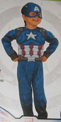 CAPTAIN AMERICA Civil War Muscle Chest Toddler (3T-4T) 2-Piece Costume Rubie's