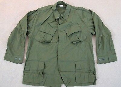 DEAD STOCK Never Worn US Army '1 VIETNAM Jungle Fatigue Combat Shirt EXTRA LARGE