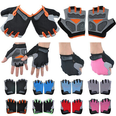 Silicone Weight Lifting Gym Gloves Workout Sports Exercise Training Fitness US