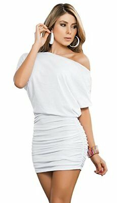 (TG. XL)  AM PM In Espiral 4749 Dress di colore bianco taglia XL
